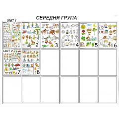 Навчально-методичні плакати для Середньої групи ДНЗ Ціна 1 шт. – 27.00 грн.